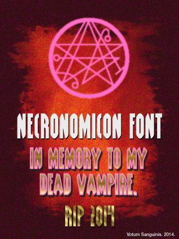 Necronomicon-Font